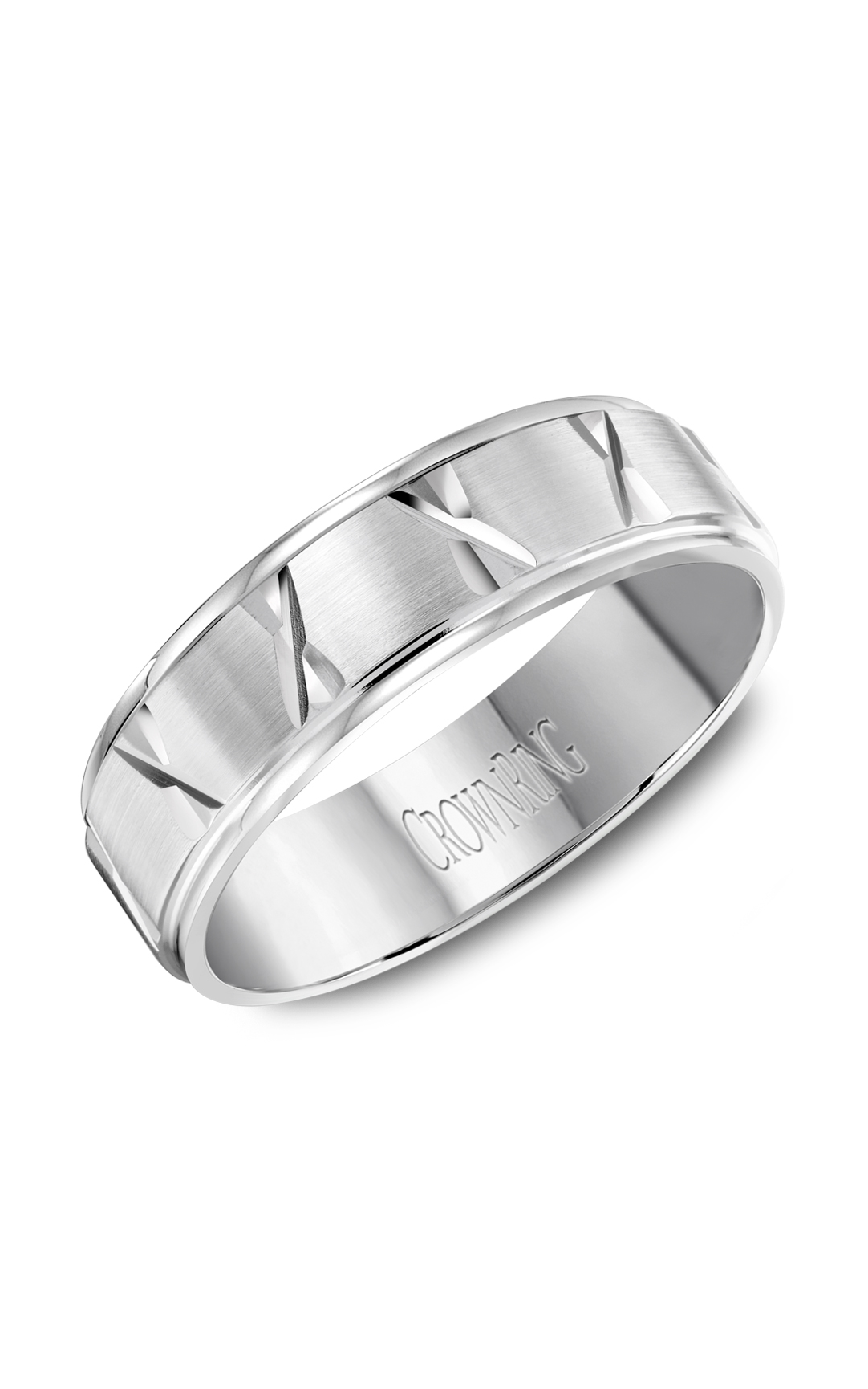 Crown Ring Men's Wedding Band WB-8062 product image
