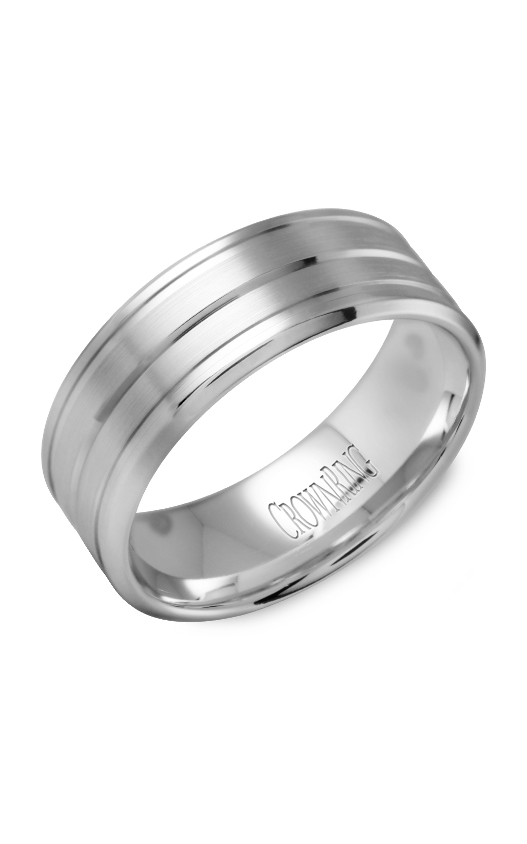 Crown Ring Men's Wedding Band WB-9504 product image