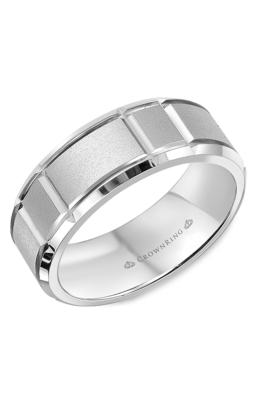 Crown Ring Men's Wedding Band WB-9910 product image
