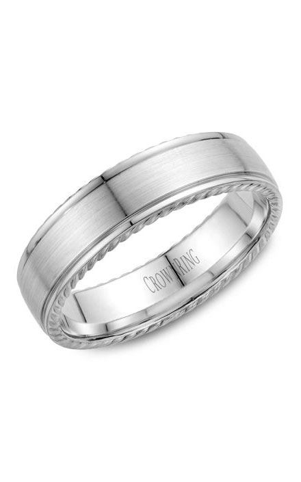 Crown Ring Men's Wedding Band WB-005R6W product image