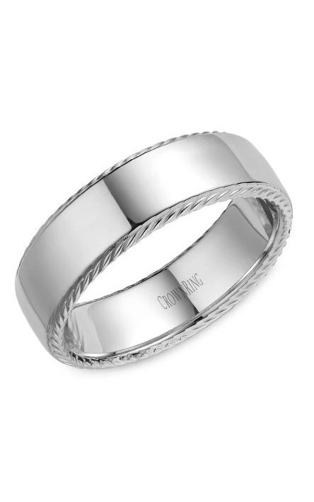 Crown Ring Men's Wedding Band WB-007R7W product image