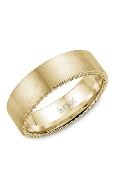 Crown Ring Men's Wedding Band WB-009R7Y product image
