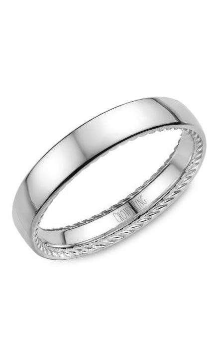 Crown Ring Men's Wedding Band WB-012R4W product image