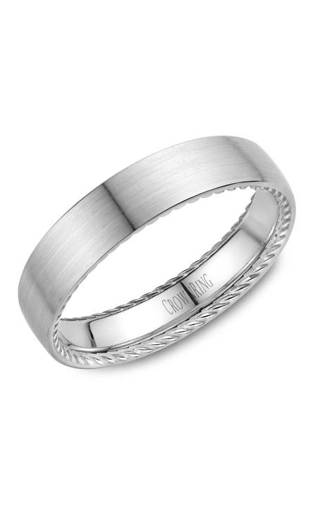 Crown Ring Men's Wedding Band WB-012R5WSP product image