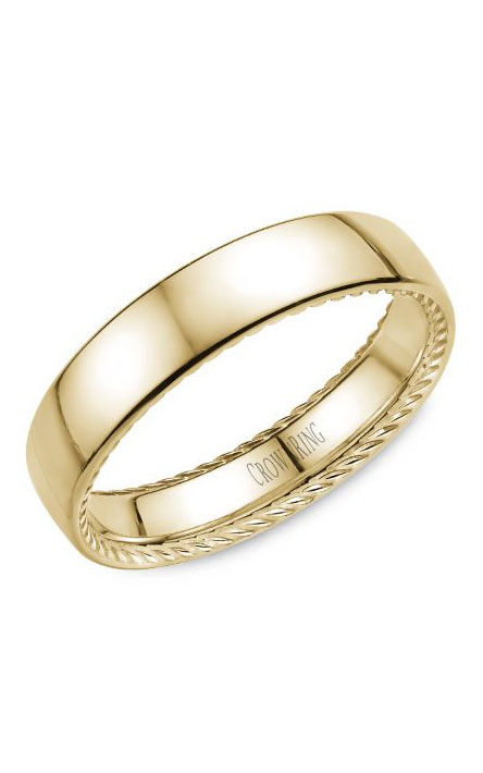 Crown Ring Men's Wedding Band WB-012R5Y product image