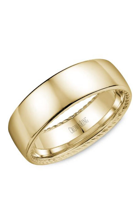 Crown Ring Men's Wedding Band WB-012R7Y product image