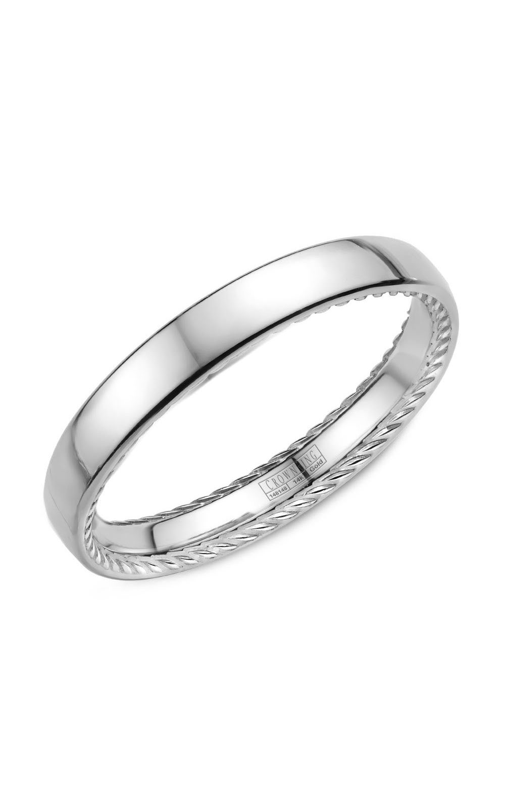 Crown Ring Men's Wedding Band WB-012R25W product image