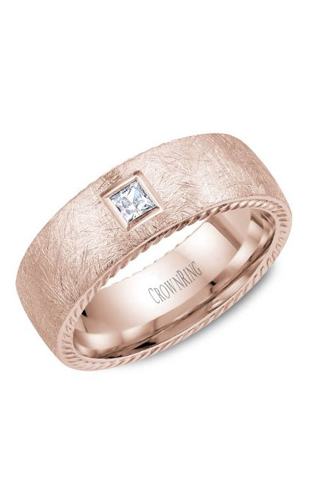 Crown Ring Men's Wedding Band WB-013RD8R product image