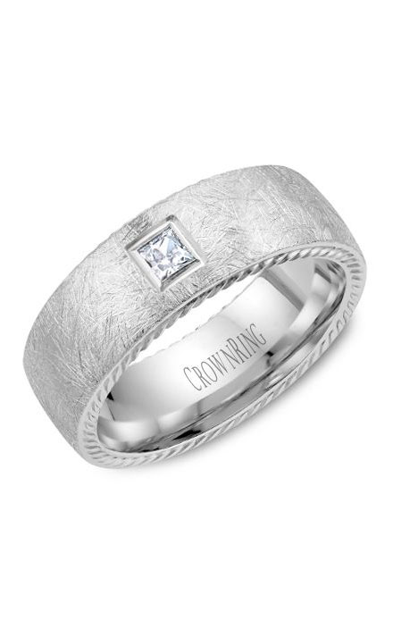 Crown Ring Men's Wedding Band WB-013RD8W product image