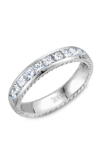 Crown Ring Men's Wedding Band WB-013RD45W product image