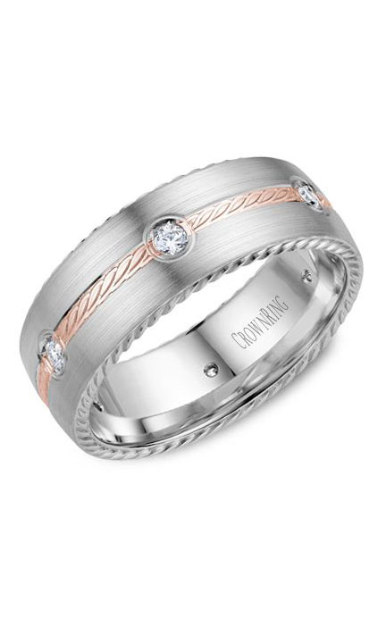 Crown Ring Men's Wedding Band WB-014RD8RW product image
