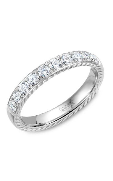 Crown Ring Men's Wedding Band WB-015RD35W product image
