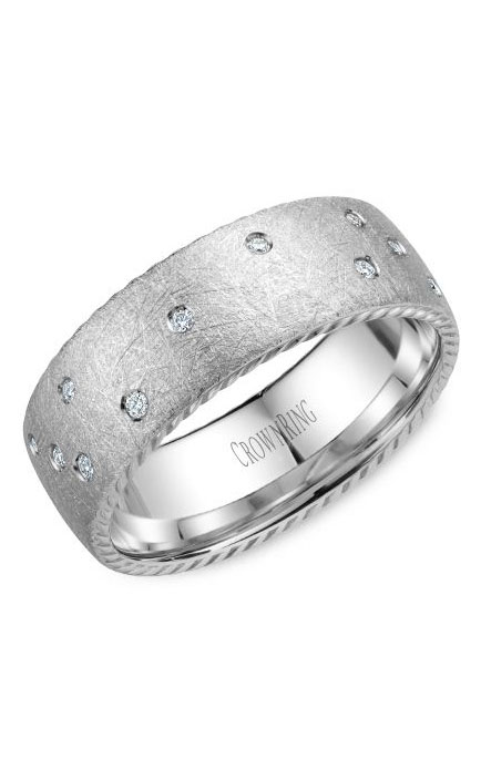 Crown Ring Men's Wedding Band WB-020R8W product image