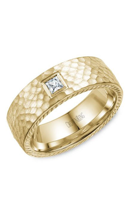 Crown Ring Men's Wedding Band WB-021RD8Y product image