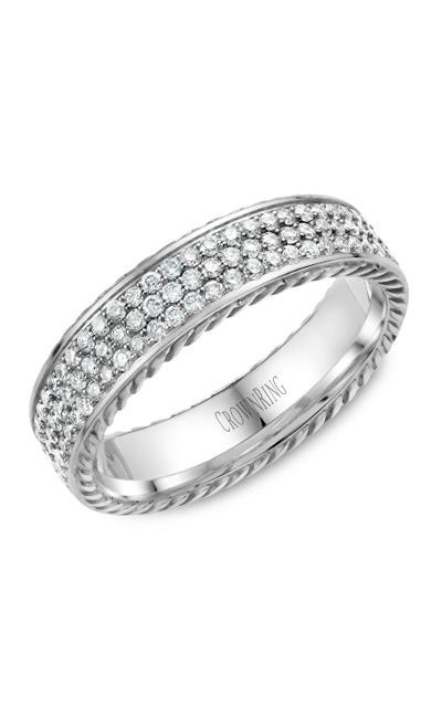 Crown Ring Men's Wedding Band WB-029RD5W product image