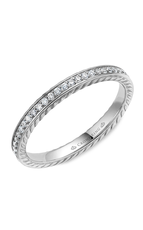 Crown Ring Men's Wedding Band WB-029RD25W product image
