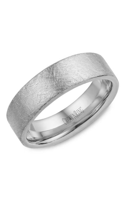 Crown Ring Men's Wedding Band WB-025C6W product image