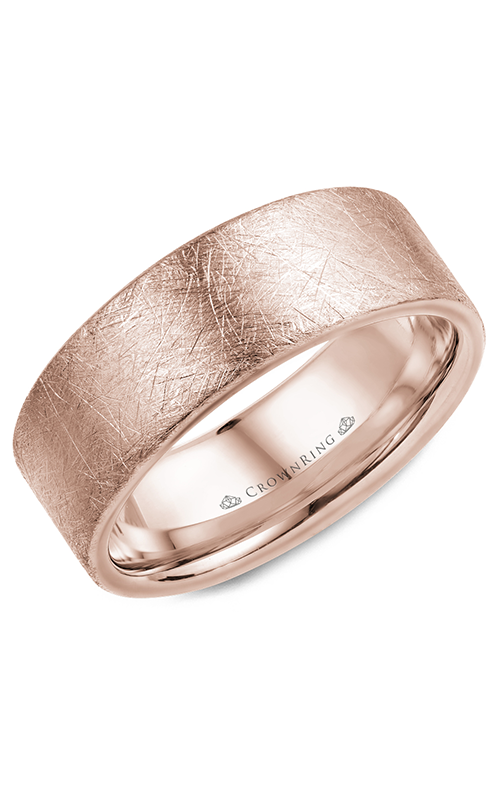 CrownRing Classic and Carved Wedding Band WB-025C8R product image
