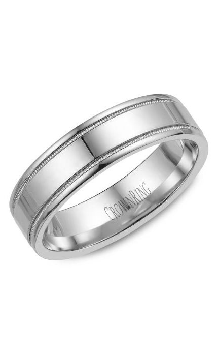 Crown Ring Men's Wedding Band WB-6901 product image