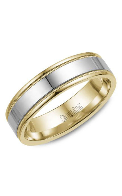 Crown Ring Men's Wedding Band WB-6912 product image