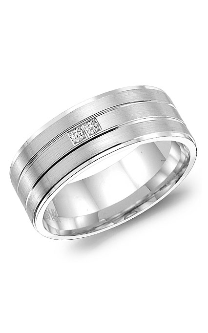 Crown Ring Men's Wedding Band WB-8122 product image