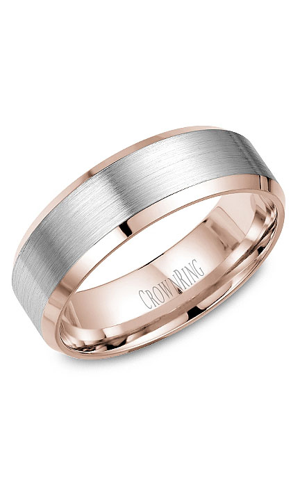 Crown Ring Men's Wedding Band WB-9532WR product image