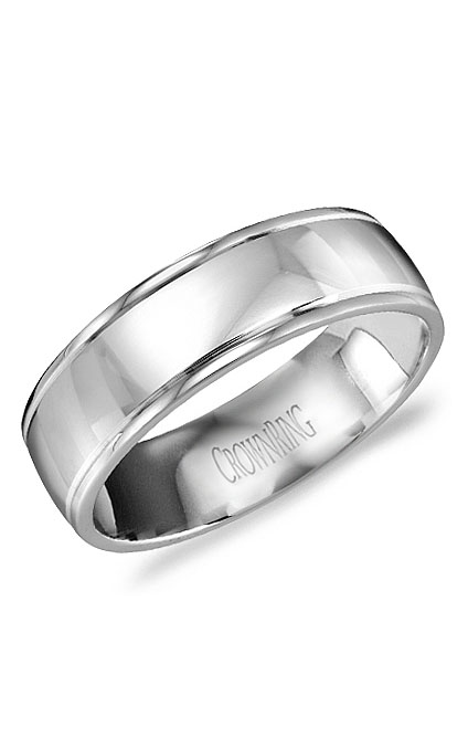 Crown Ring Men's Wedding Band WB-9546 product image