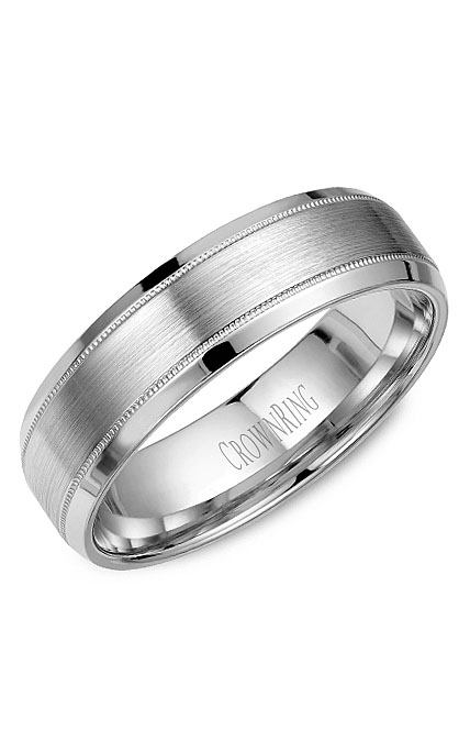 CrownRing Classic and Carved Wedding Band WB-9915 product image