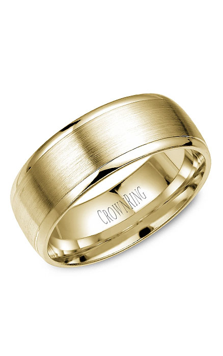 Crown Ring Men's Wedding Band WB-7023Y product image