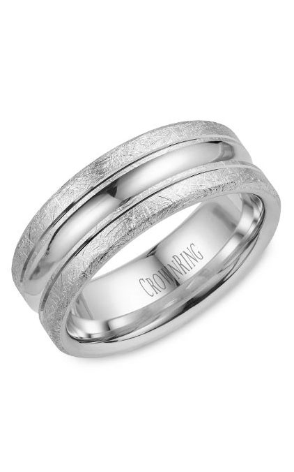 Crown Ring Men's Wedding Band WB-024C8W product image