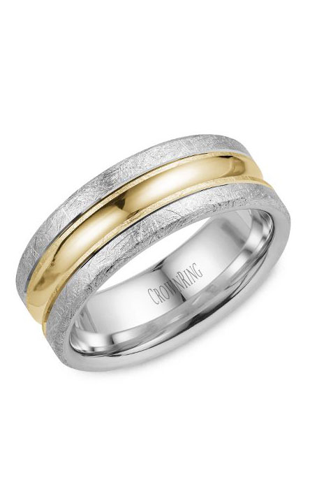 Crown Ring Men's Wedding Band WB-024C8YW product image
