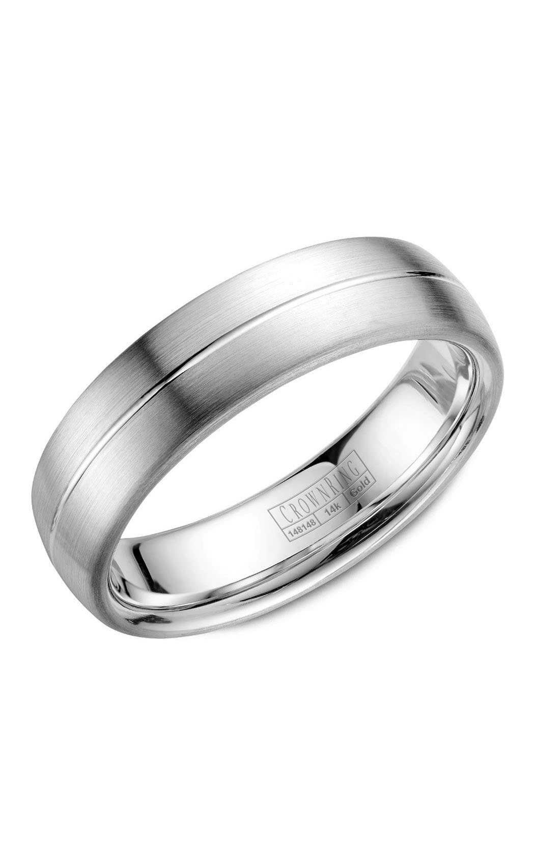 Crown Ring Men's Wedding Band WB-037C6W product image