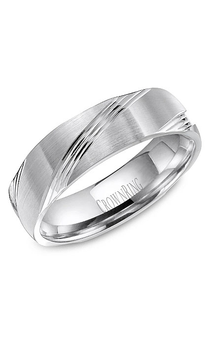 Crown Ring Men's Wedding Band WB-8052 product image