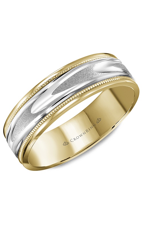CrownRing Classic and Carved Wedding Band WB-8067 product image
