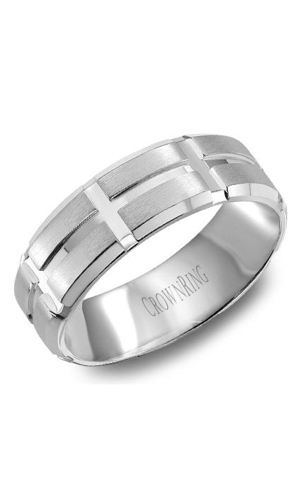 Crown Ring Men's Wedding Band WB-8802 product image