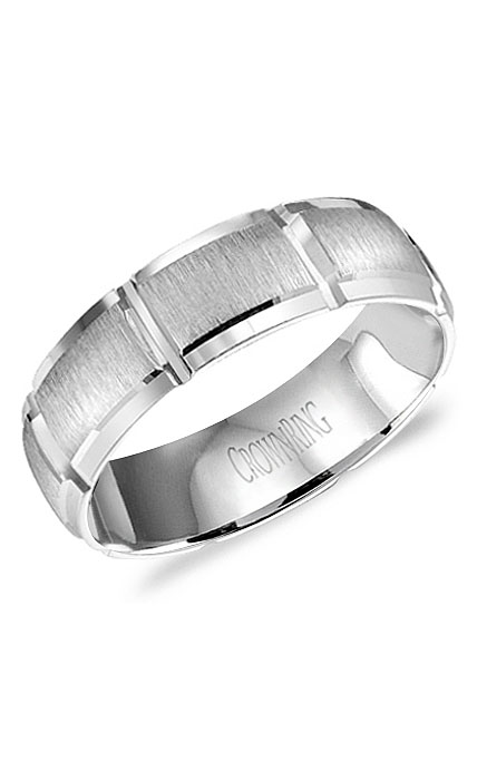 Crown Ring Men's Wedding Band WB-9410 product image