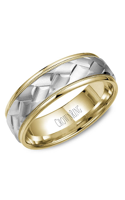 Crown Ring Men's Wedding Band WB-9583 product image