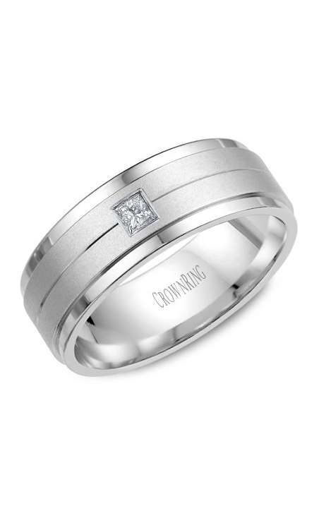 Crown Ring Men's Wedding Band WB-9102 product image