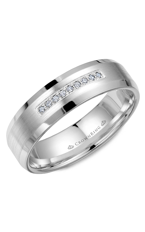 Crown Ring Men's Wedding Band WB-9612 product image