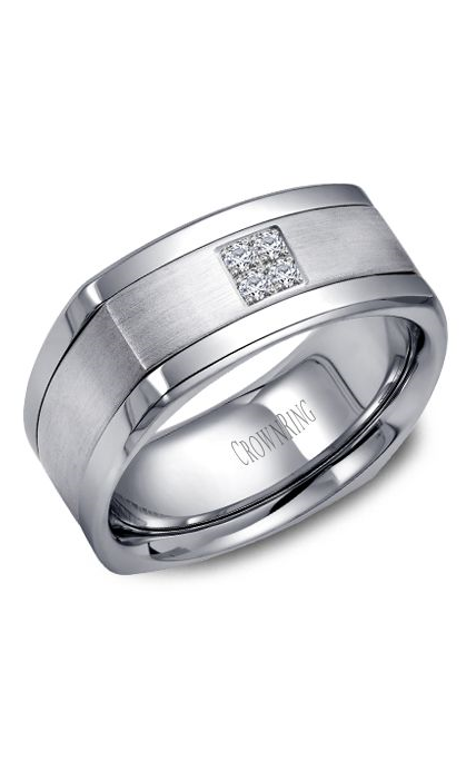 Crown Ring Men's Wedding Band WB-9671 product image