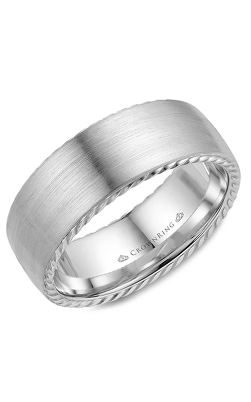 CrownRing Rope wedding band WB-002R8W product image