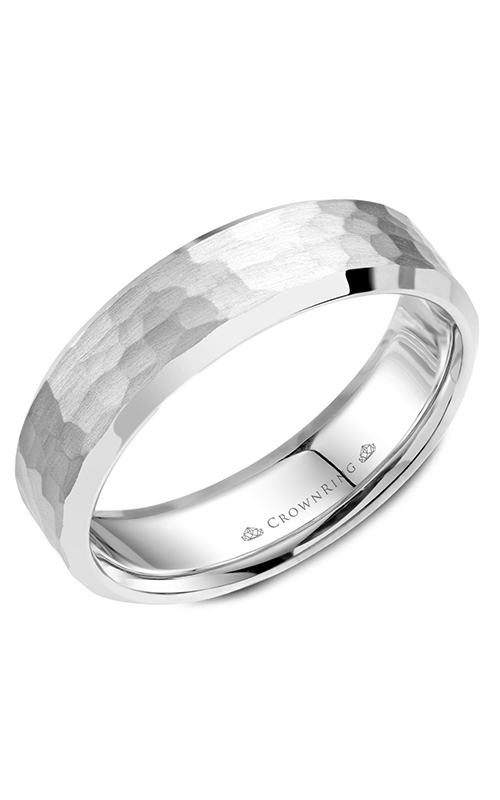 CrownRing Classic and Carved wedding band WB-054C6W product image