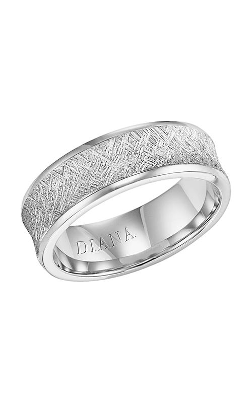 Diana  CF Artisan Concve-Brkn Edge  Wedding Band  11-N13A4W7-G product image