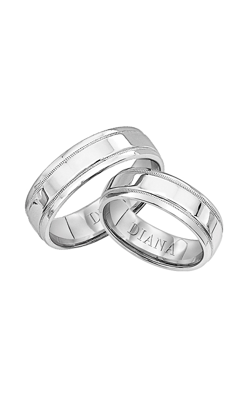 Diana  6mm Comfort Fit Engraved Wedding Ring  Wedding Band  11-N6862-G product image