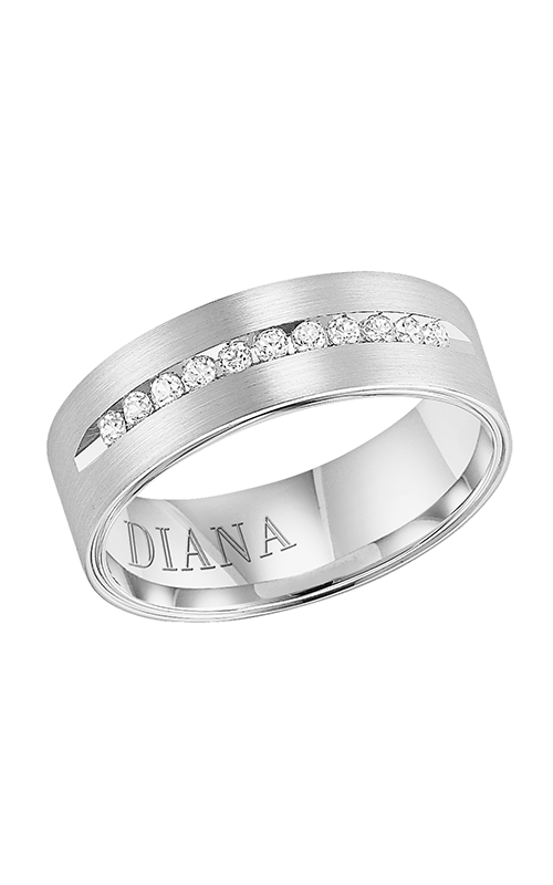 Diana  7mm Comfort Fit Diamond Band  Wedding Band  21-N7620W-G product image