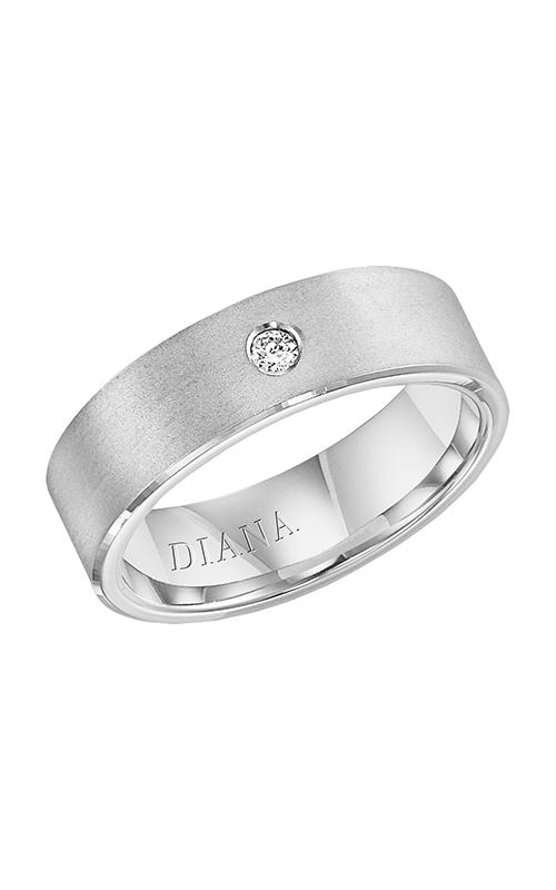 Diana  CF Lustre Flt Brkn Egde  Wedding Band  22-N32L4W7-G product image