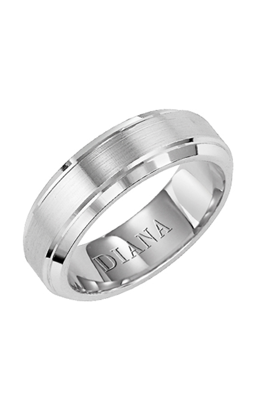 Diana  7mm Comfort Fit Engraved Ring  Wedding Band  11-N7603W-G product image