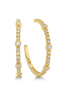 Copley Large  Bezel Hoop Earrings product image