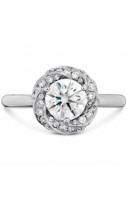 Atlantico Wave Diamond Halo Engagement Ring product image