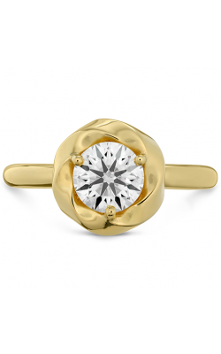 Atlantico Wave Halo Solitaire Engagement Ring product image
